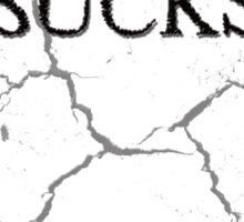 Crashing Sucks Sticker