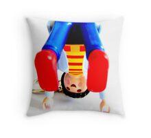 Plastic Yoga. Throw Pillow