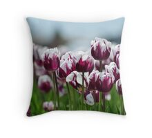 Purple and White Beauty Throw Pillow
