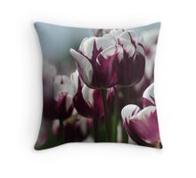 Kiss of Purple and White Throw Pillow