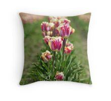 Budding Deep Pink and Yellow Throw Pillow