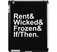 Idina Menzel Show List (White Text) iPad Case/Skin