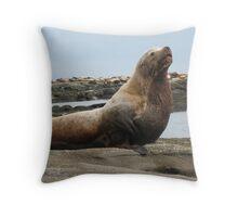 Stellar Sea Lion Throw Pillow
