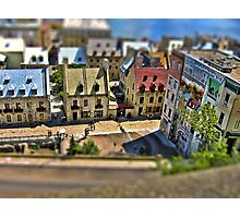 Tilted Toy Town Photographic Print