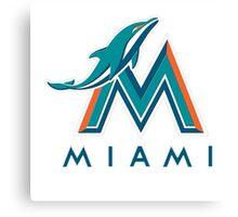 miami dolphins logo Canvas Print