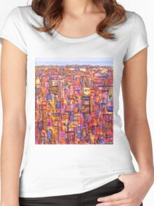 Intercity dreaming Women's Fitted Scoop T-Shirt