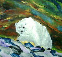 Polar Bear Aurora by George Hunter