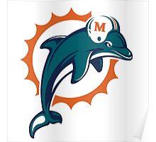 miami dolphins logo 3 Poster