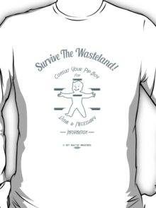 Fallout - Survive The Wasteland! (Blue) T-Shirt