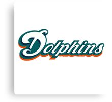 miami dolphins logo 4 Canvas Print