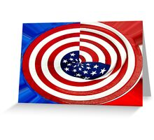 Flag Swirl Greeting Card