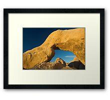 Joshua Tree Arch Sunrise Framed Print