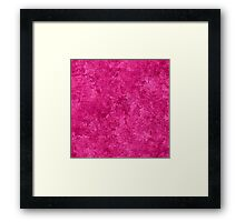 Raspberry Rose Oil Painting Color Accent Framed Print