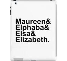Idina Menzel Character List (Black Text) iPad Case/Skin