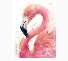 Flamingo Watercolor Exotic Tropical Bird Painting Unisex T-Shirt