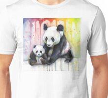 Pandas in the Rainbow Unisex T-Shirt