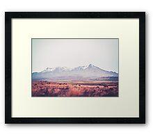 Desert Peaks Framed Print