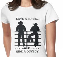 Save A Horse Womens Fitted T-Shirt