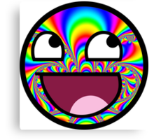 AWESOME MEME FACE - Cool  EFFECT Canvas Print