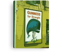 { Guinness for strength - vintage beer poster } Canvas Print