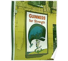 { Guinness for strength - vintage beer poster } Poster