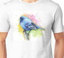 Indigo Bunting Watercolor Unisex T-Shirt