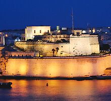 Fort St.Angelo by night by Melvin Degiorgio