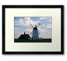 Lytham landmarks,lifeboat house and windmill Framed Print