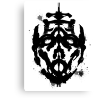 Inkblot Test, Verdict Psycho Canvas Print