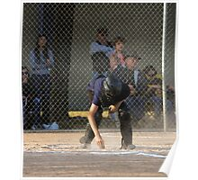 Umpire Dusting Home Plate  Poster