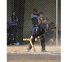 Umpire Dusting Home Plate  Photographic Print