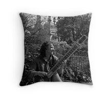 Sitar Street Throw Pillow