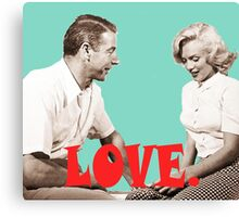 Retro Love. Marilyn & Joe Canvas Print