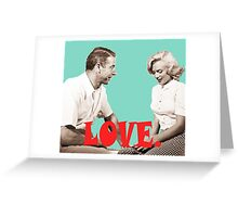 Retro Love. Marilyn & Joe Greeting Card