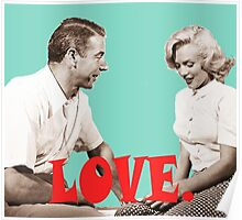 Retro Love. Marilyn & Joe Poster