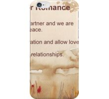 Affirmation for ROMANCE iPhone Case/Skin