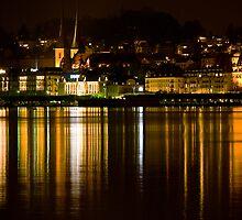 Lucerne by night by GOSIA GRZYBEK
