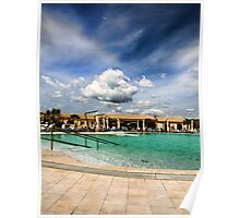 clouds over the swimming pool Poster