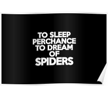 To sleep Perchance to dream of spiders Poster