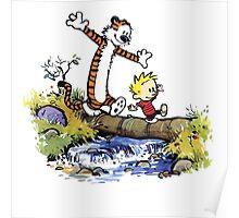 Calvin And Hobbes Funny Custom Artwork Poster