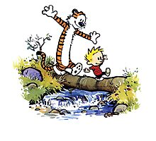 Calvin And Hobbes Funny Custom Artwork Photographic Print