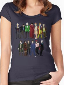 Doctor Who - The 13 Doctors Women's Fitted Scoop T-Shirt