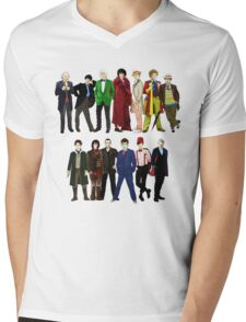 Doctor Who - The 13 Doctors Mens V-Neck T-Shirt