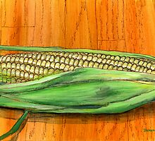 Fresh Corn on the Cob by bernzweig