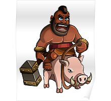Hog Rider Clash of Clans Art Poster