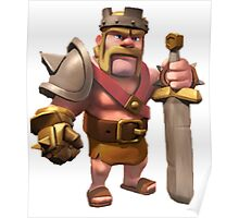 King Clash of Clans Art Poster