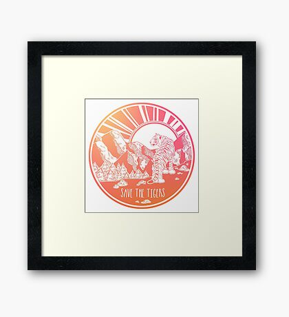 Save the Tigers! Framed Print