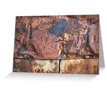 Rusty Metal Siding Old Industrial Building Greeting Card