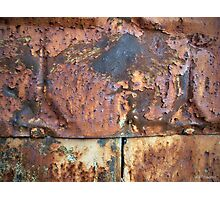 Rusty Metal Siding Old Industrial Building Photographic Print