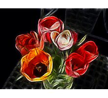 energetic tulips Photographic Print